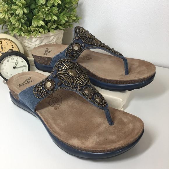 b0f50855eaf Dansko Shoes - DANSKO Pamela Sundance Suede Sandals size 38 NEW